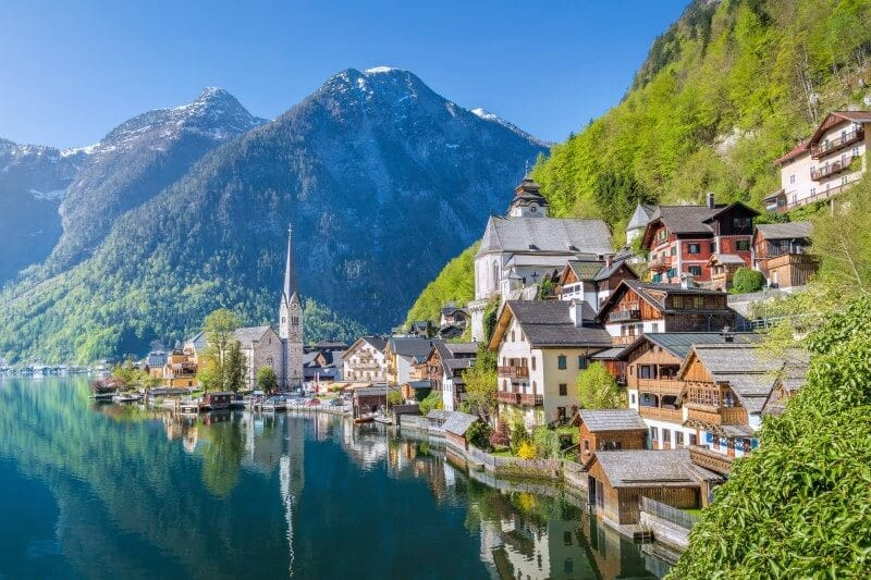 Austria Hallstatt destination in Europe on a budget