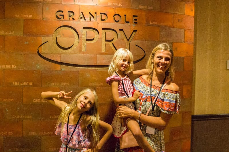 Backstage tour at the Grand Ole Opry in Nashville