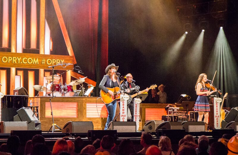 Performers during the Grand Ole Opry Show in Nashville