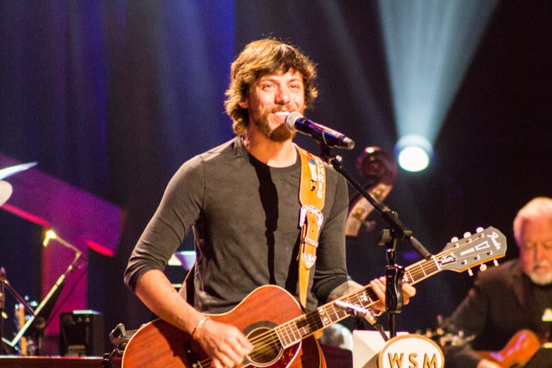 Chris Janson performing at the Grand Ole Opry in Nashville, Tennessee