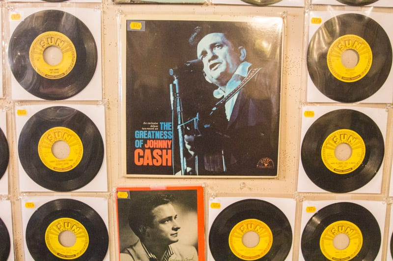 Johnny Cash inside the Sun Studio Tour in Memphis, Tennessee