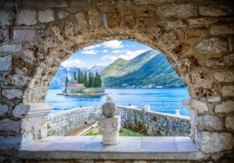 Montenegro Perast European destination on a budget