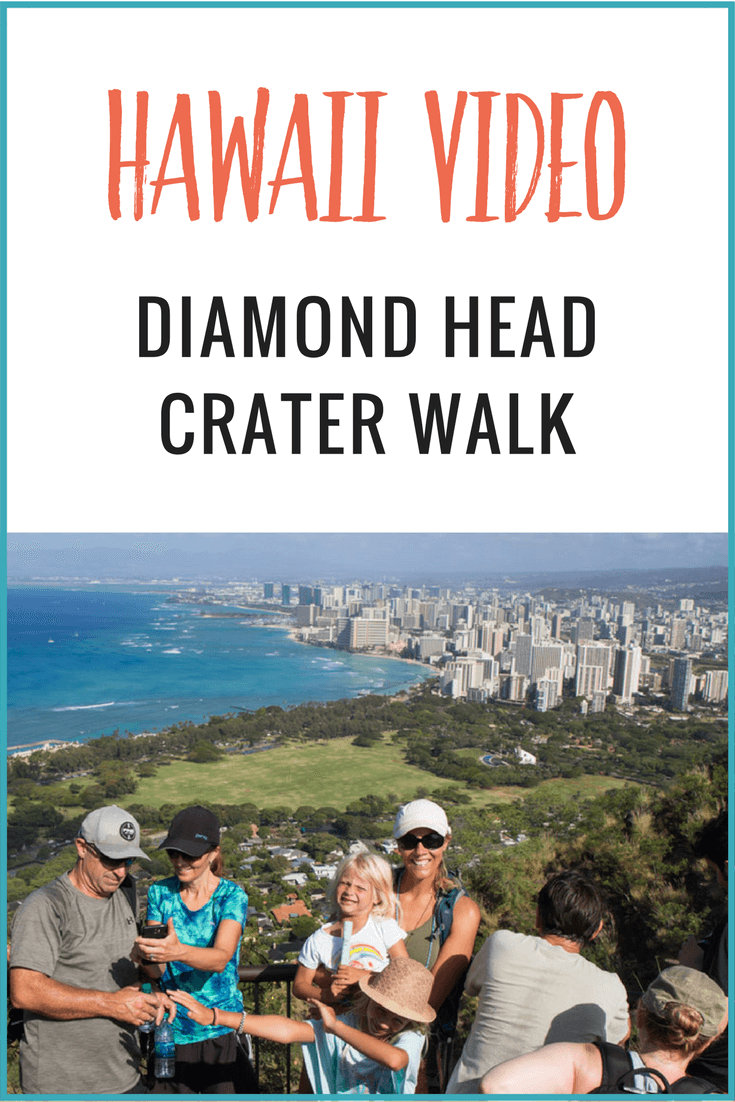 In this video from Hawaii, watch us do the Diamond Head Crater Walk and see the amazing views over Waikiki Beach