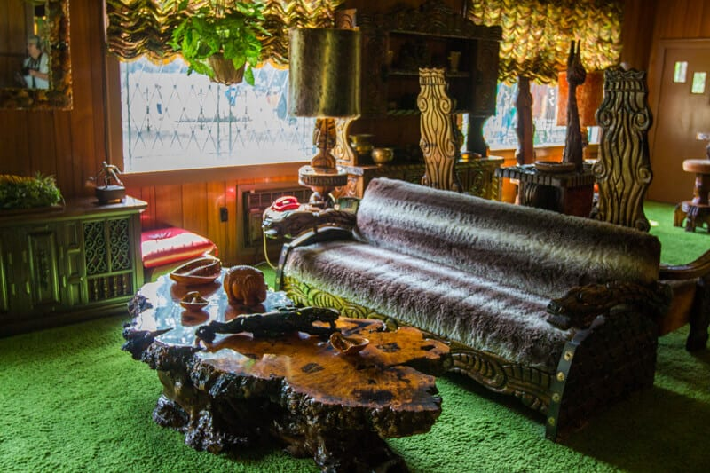 The jungle room inside Graceland, Memphis