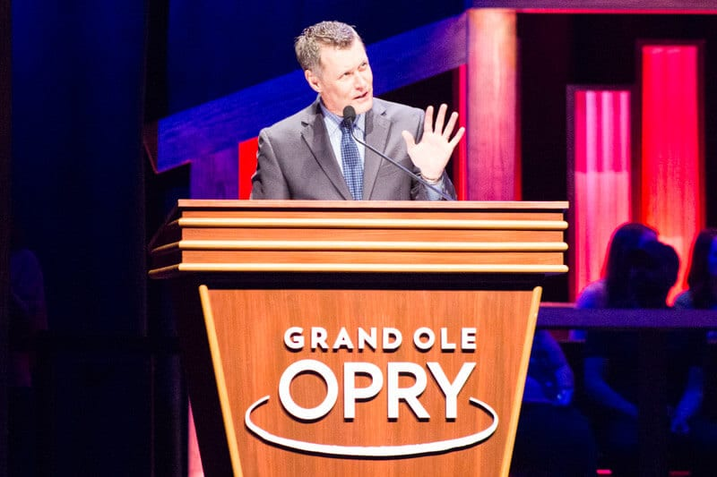 Announcer at the Grand Ole Opry Show in Nashville