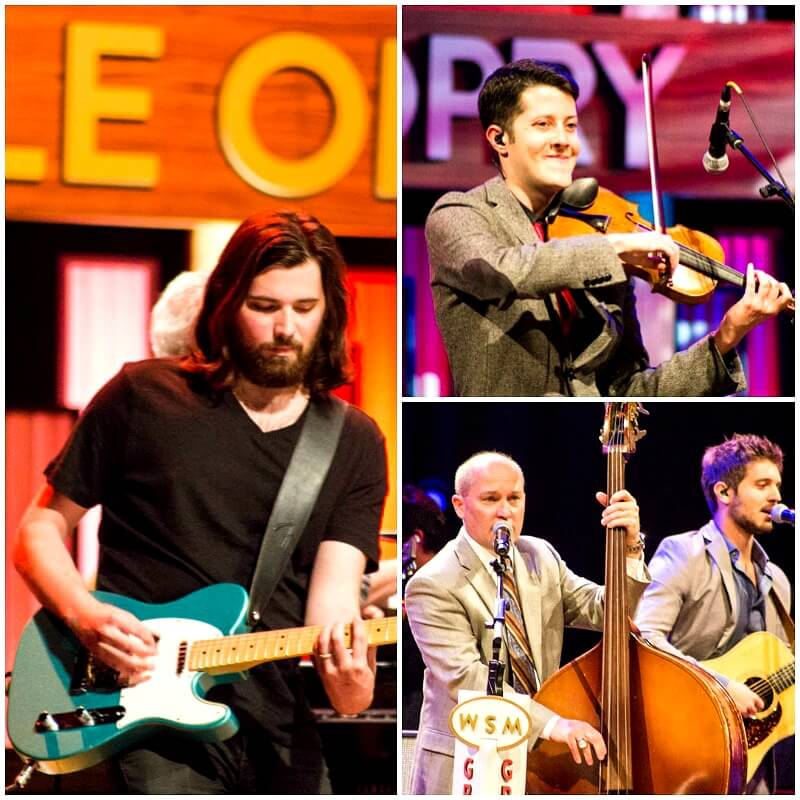 Country music stars performing at the Grand Ole Opry in Nashville