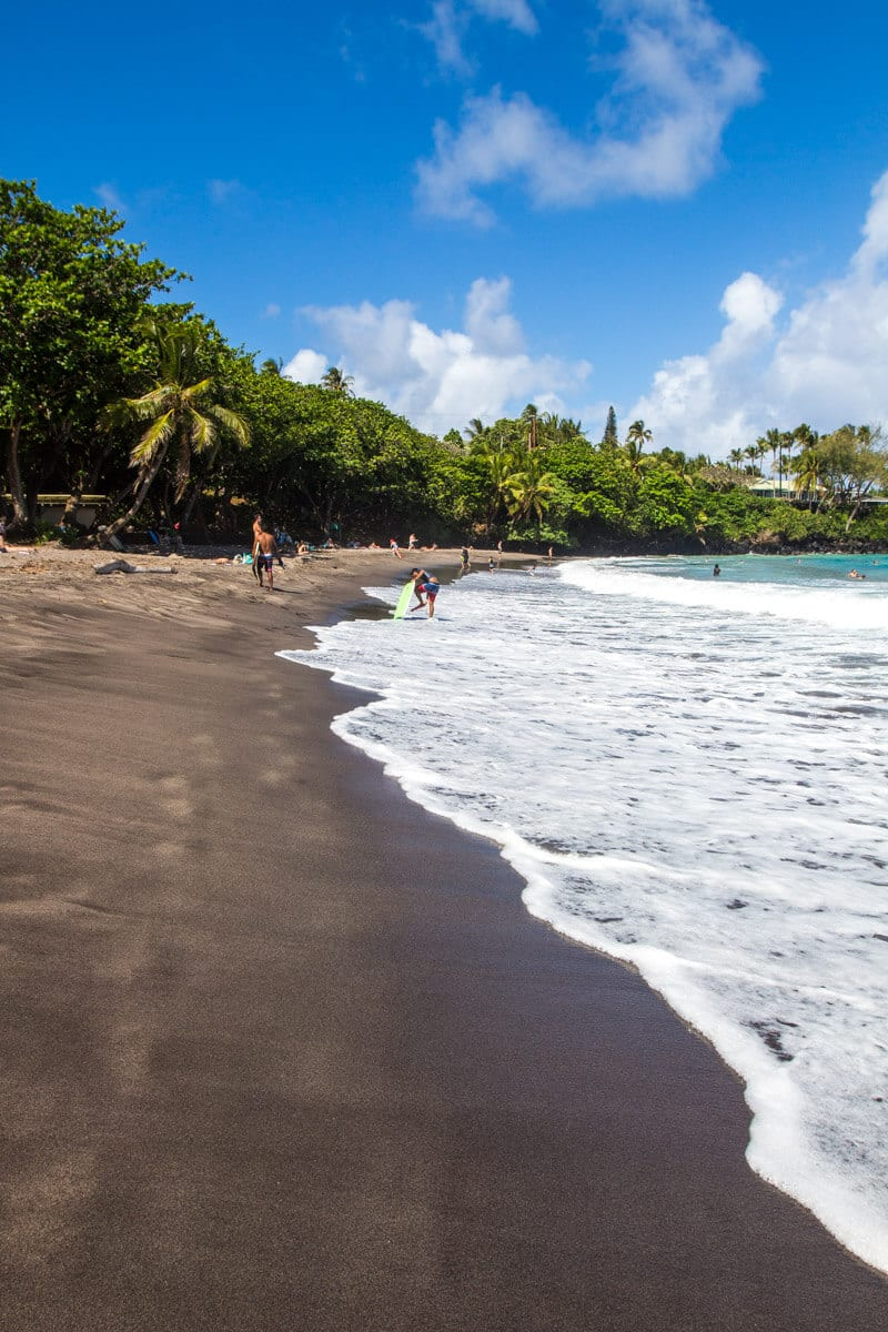 Hamoa Beach - one of the best stops along the Road to Hana drive in Maui, Hawaii