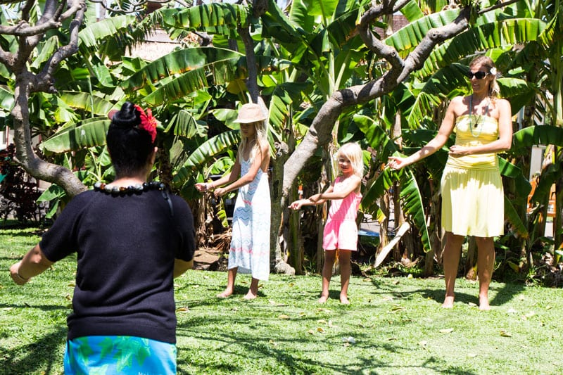 Hula dancing lessons at Kaanapali Beach Hotel