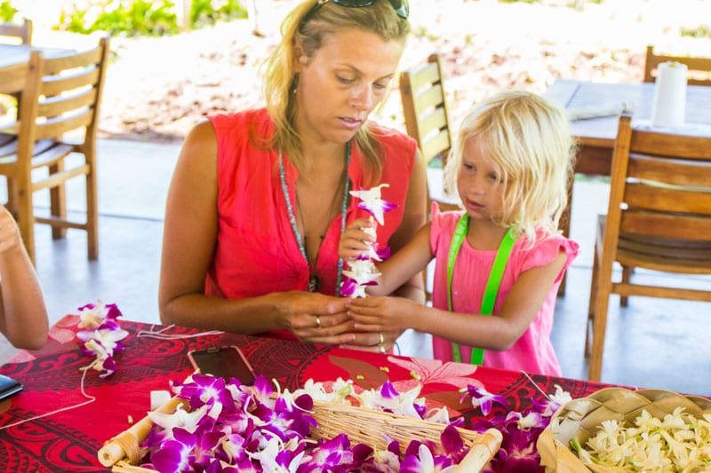 Lei making Lesson