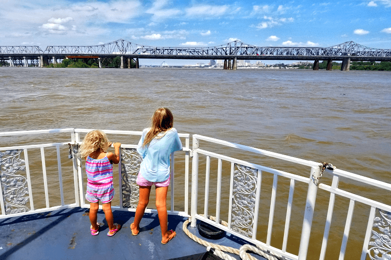 Mississippi River Cruise - one of the best things to do in Memphis with kids