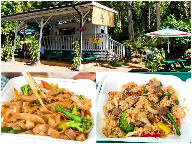 Thai food truck along the Road to Hana in Maui