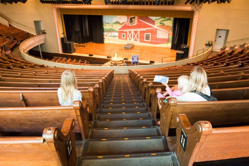 On tour at the Ryman Auditorium in Nashville, Tennessee