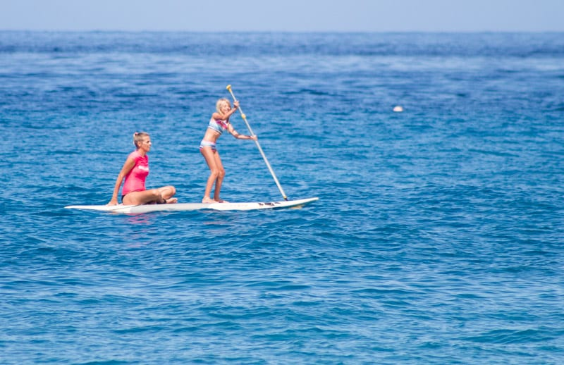 Stand up paddle boarding at Kaanapali Beach, Maui