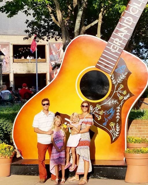 Family photo before the Grand Ole Opry Show in Nashville, Tennessee attractions for kids