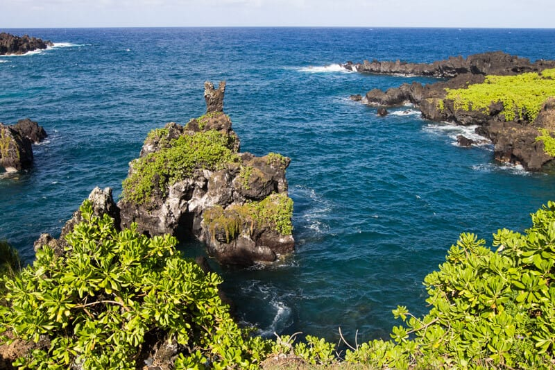 Wai'napanapa State Park - one of the best stops along the Road to Hana drive in Maui, Hawaii