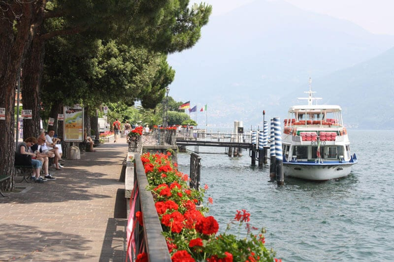 The village of Menaggio on Lake Como has fun activities such as water sports and golf
