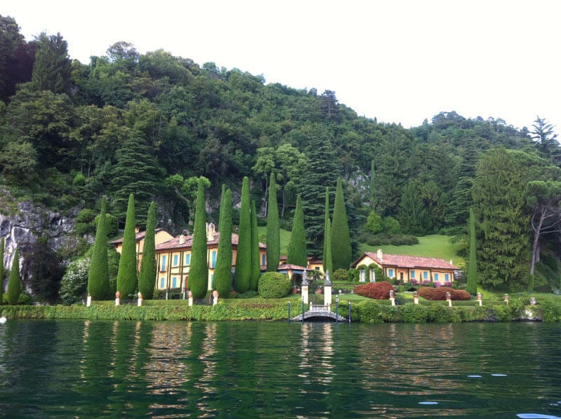 Taking a cruise on Lake Como is a good way to see some of the houses of its famous residents, like Richard Branson