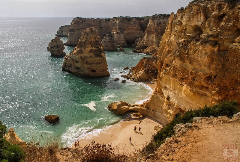 Algarve, Portugal might just have the best beach in the world with Praia Da Marinha Beach