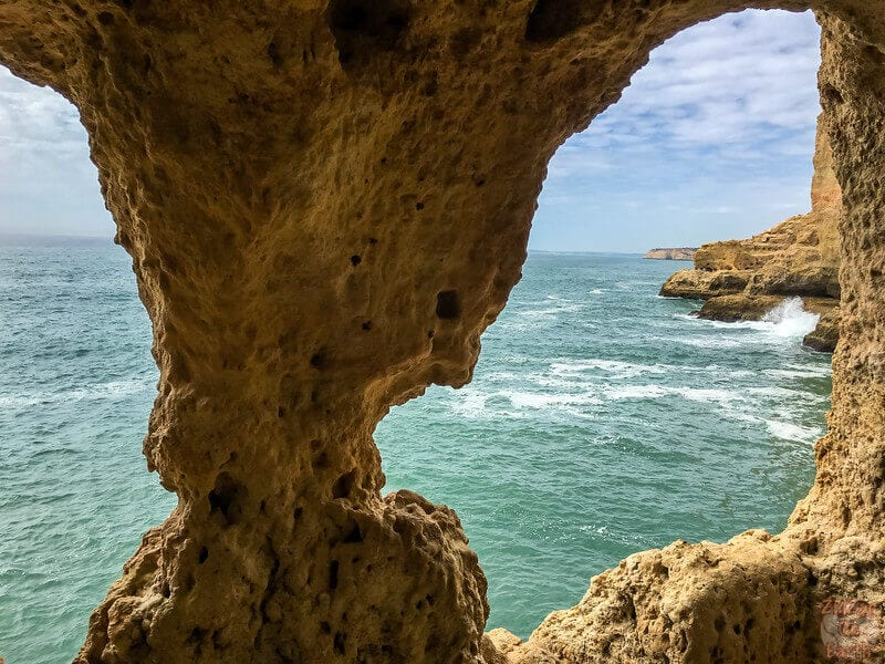 Explore Algar Seco to see some fascinating cliffs and views of the Algarve coast