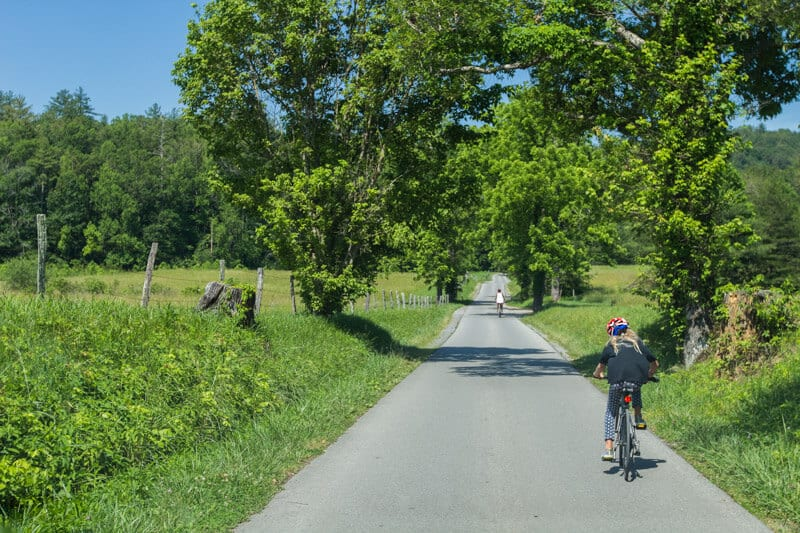 Cades Cove Tennessee bike ride