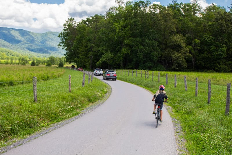 Cades Cove bike ride Smoky Mountains National Park