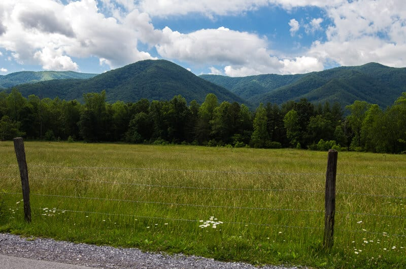 Cades Cove loop rode Smoky Mountains National Park