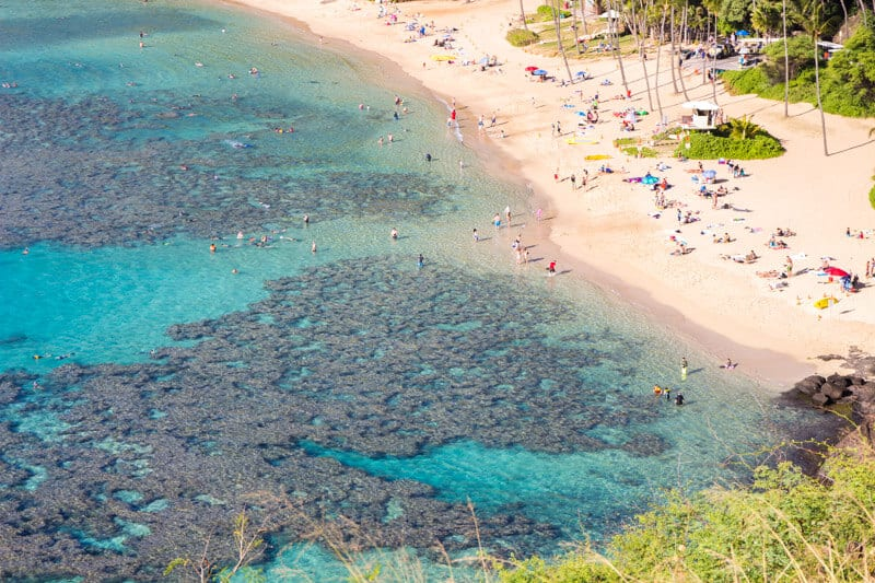 Hanauma Bay - one of the most beautiful places to visit in Hawaii