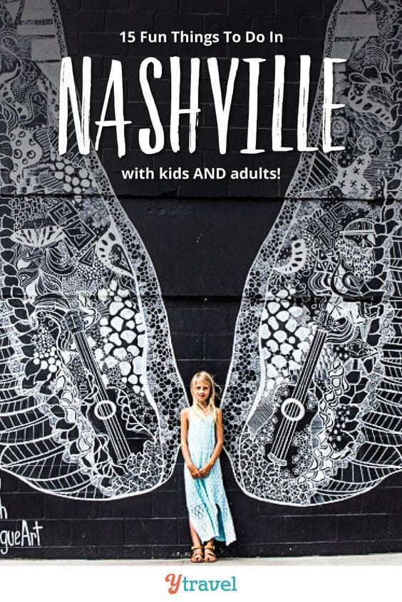 Planning to visit Nashville with kids? Here are 15 fun things to do in Nashville with kids that adult's love too. Don't take a Nashville trip before reading these Nashville travel tips.