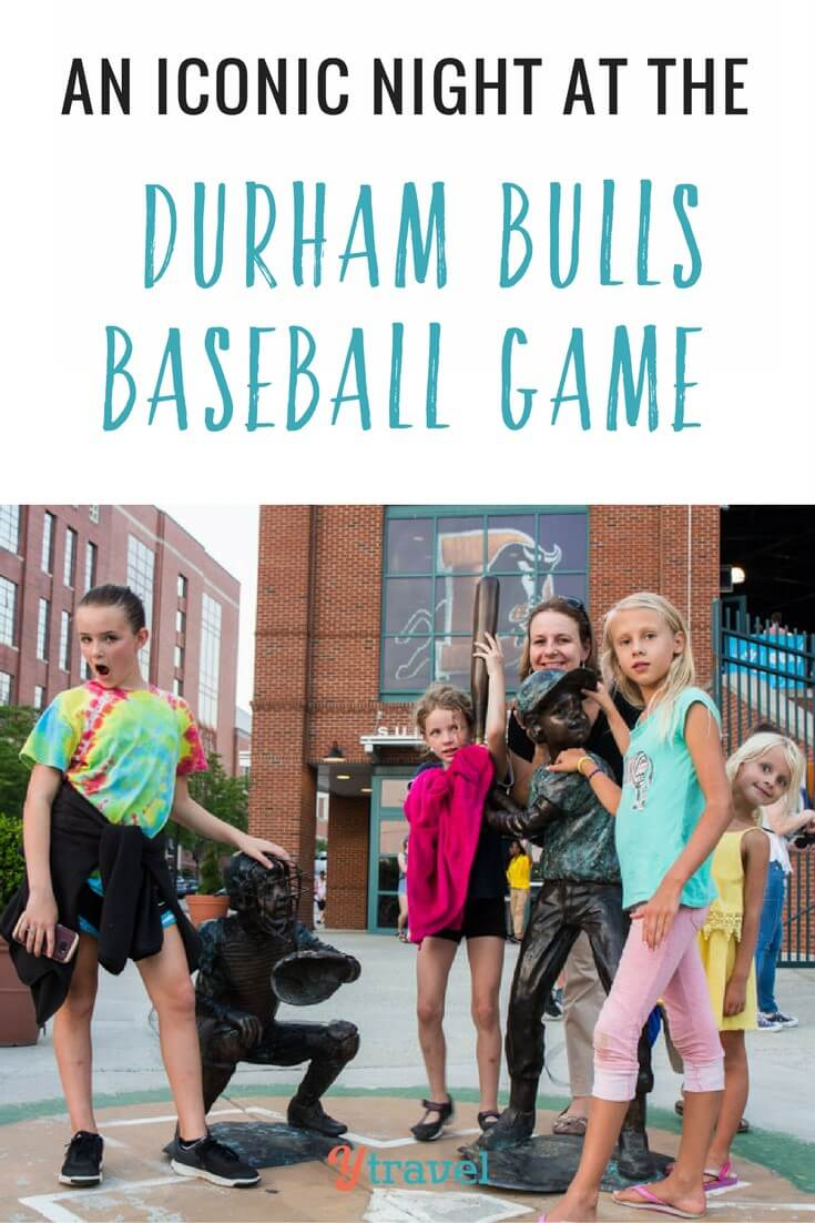The Durham Bulls are an iconic minor league baseball. click to read our fun night at the Durham Bulls game in Durham North Carolina. Do you like going to baseball games with your kids?
