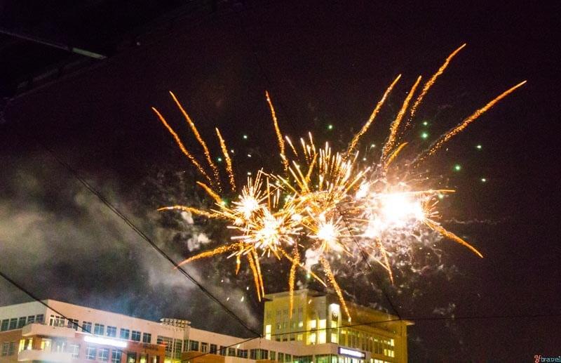 Fireworks Durham Bulls baseball game