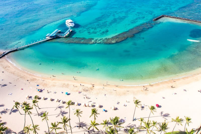 Waikiki Beach - one of the best things to do in Oahu Hawaii