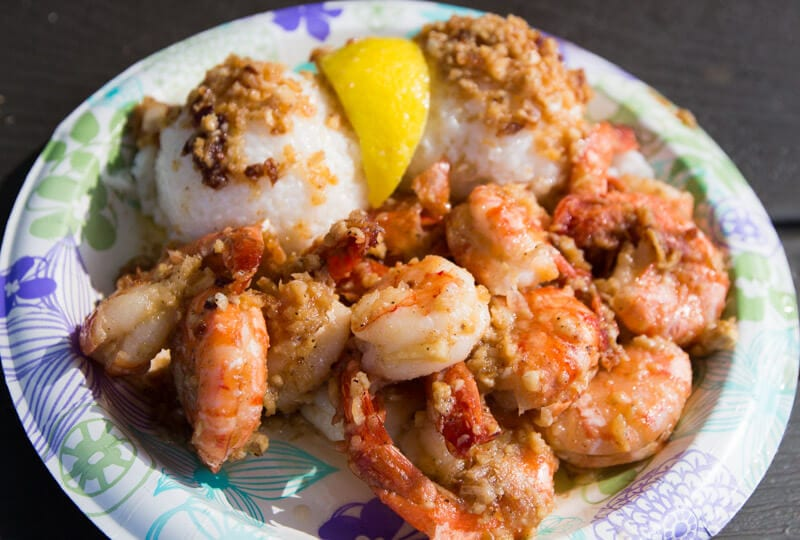 Stop in at Giovanni's Shrimp Truck on Oahu's North Shore for yummy shrimp!