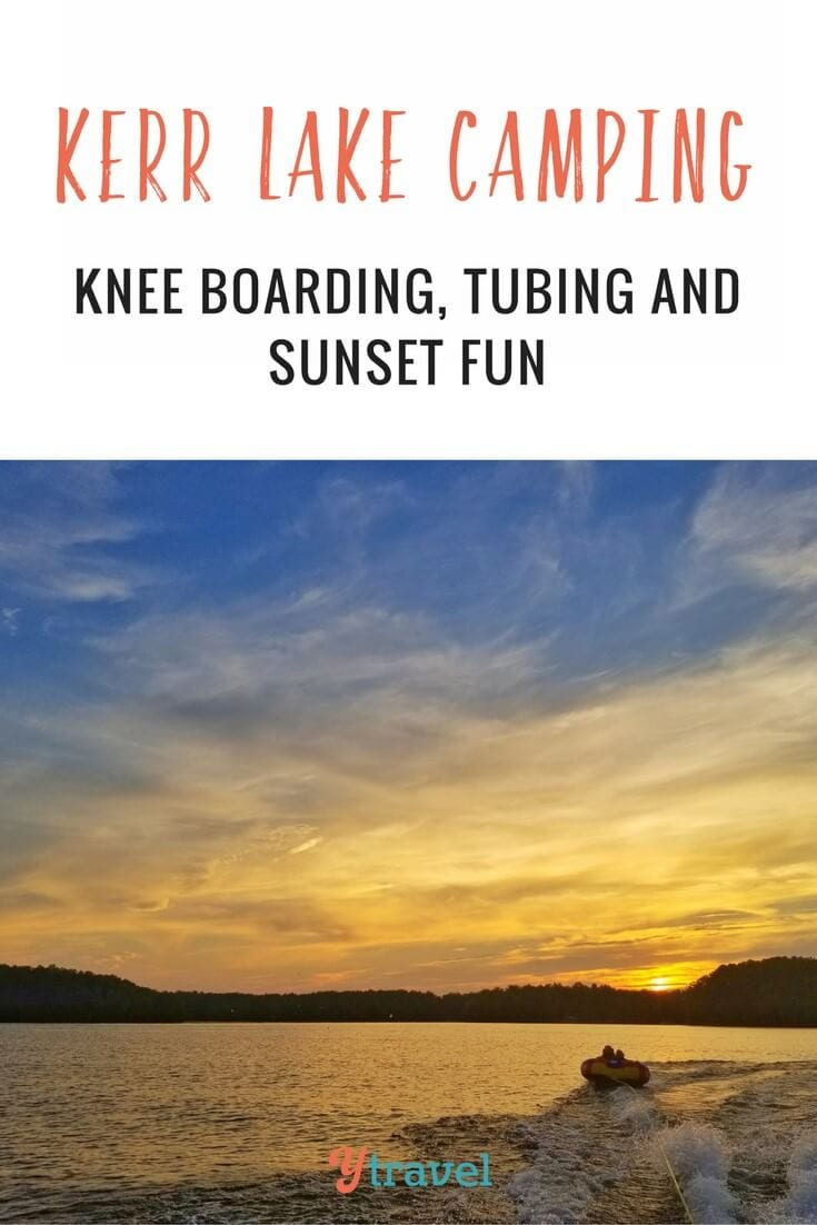 do you like tubing and kneeboarding? We had a fun few days camping with friends at Kerr Lake North Carolina. It's a top spot for a family camping getaway