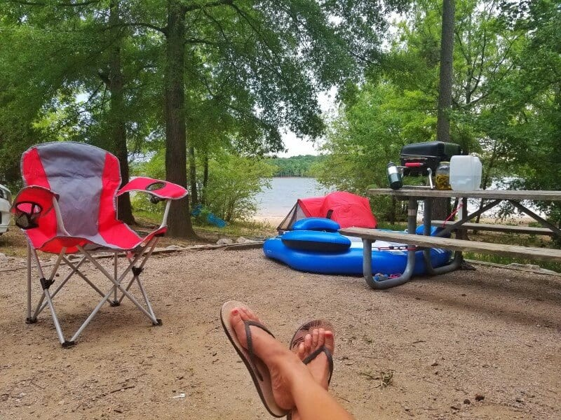Satterwhite Point campsite Kerr Lake NC