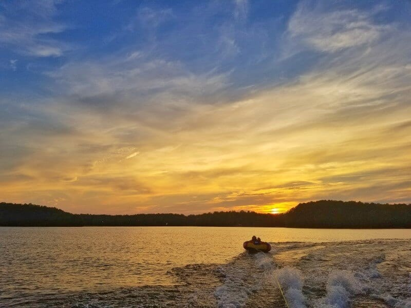 Sunset Kerr Lake North Carolina