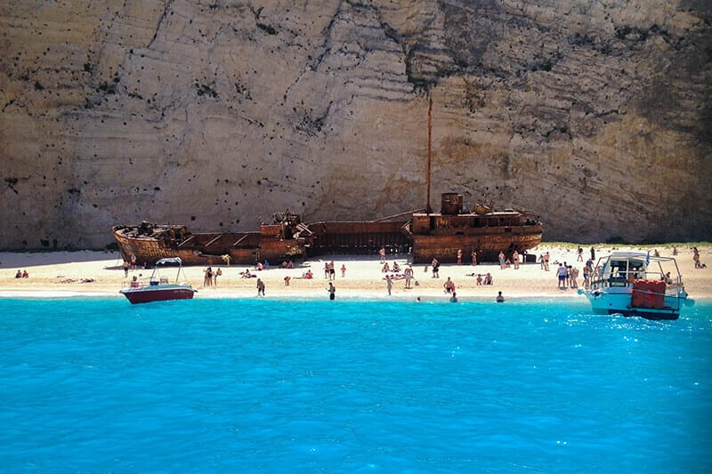 The Old Shipwreck on Navigo Beach, Greece