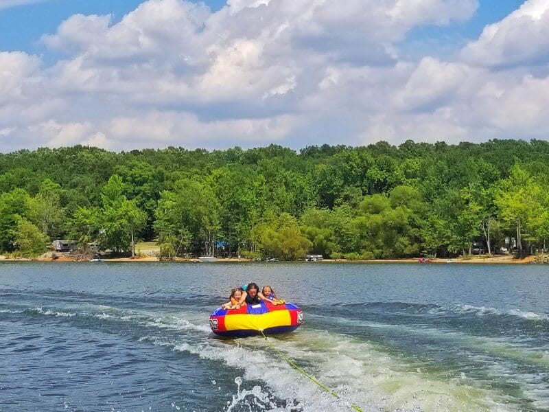 Tubing and camping Kerr Lake NC