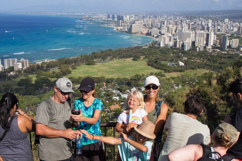 Diamond Head Walk, Oahu, Hawaii
