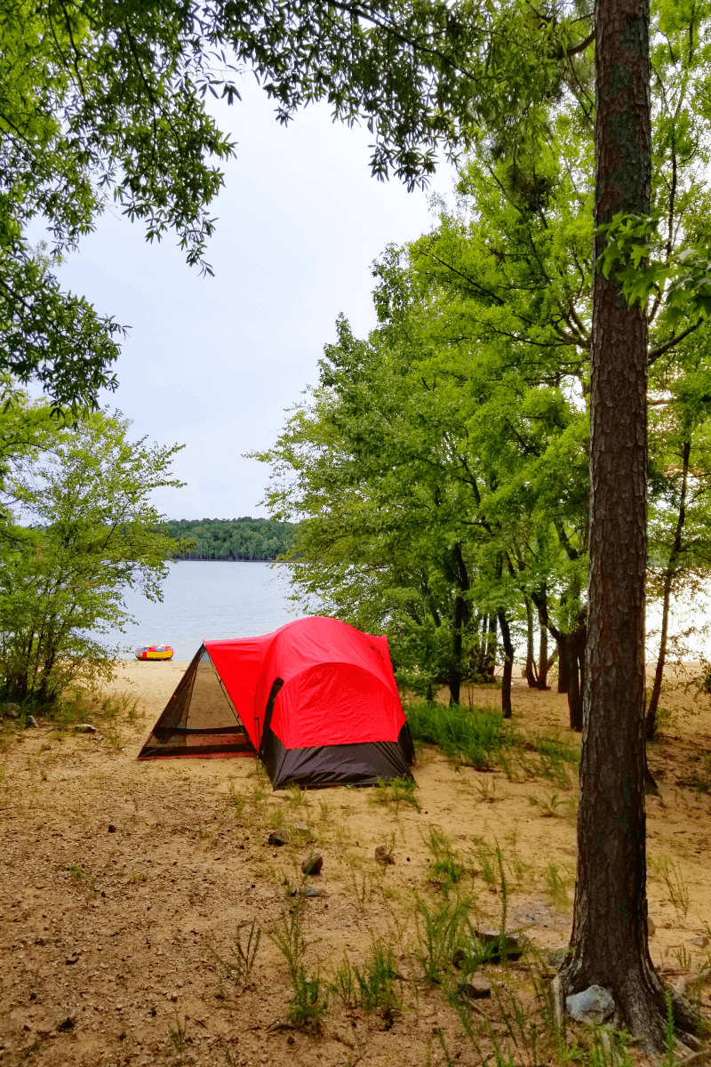 Camping at Kerr Lake, North Carolina