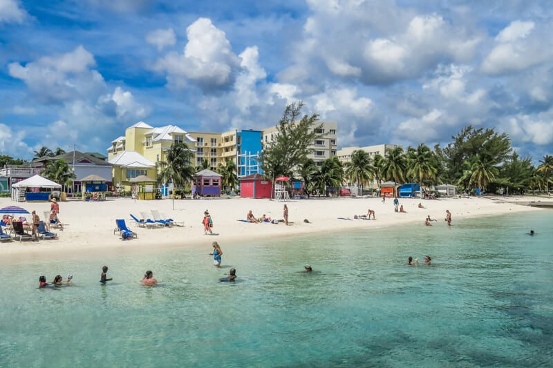Junkanoo Beach on Nassau Bahamas New Providence Island for a beach getaway and family Bahamas Vacation.