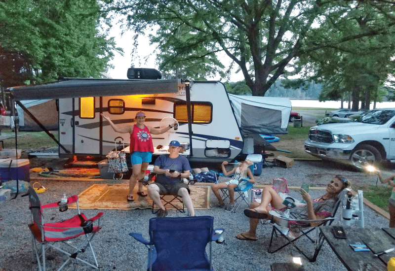 Camping at Nutbush Campsite, Kerr Lake, North Carolina