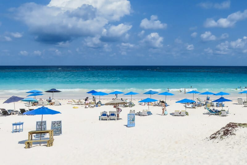 The famous Pink Sands Beach on Harbour Island Bahamas is the perfect Bahamas vacation getaway destination.