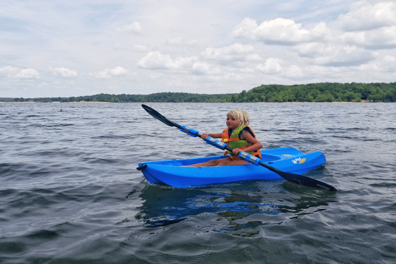 Kayaking on Kerr Lake, North Carolina