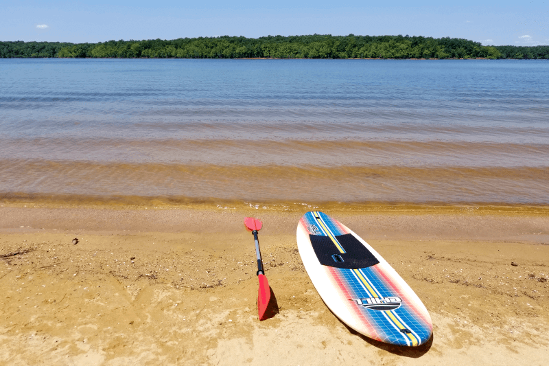 Stand Up Paddle Boarding at Kerr Lake, North Carolina
