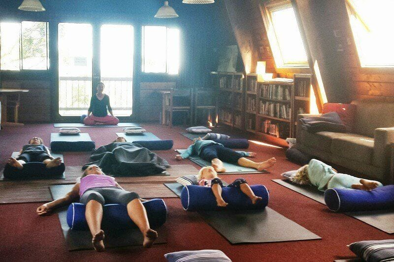 Yoga at Binna Burra Lodge, Gold Coast Hinterland, Queensland, Australia
