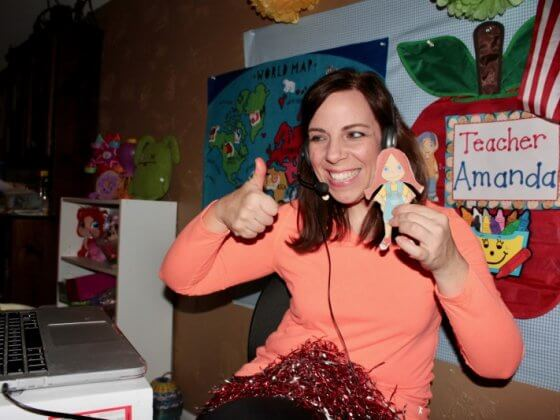 Teaching english to chinese students with VIPKID