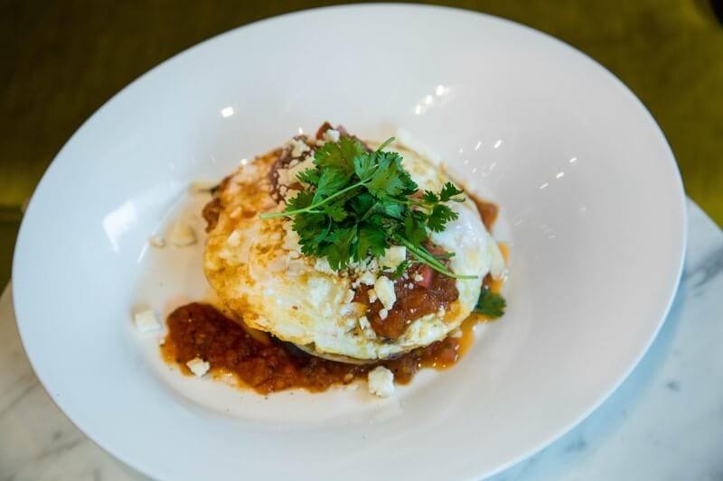 huevos rancheros Indigo Hotel Downtown LA