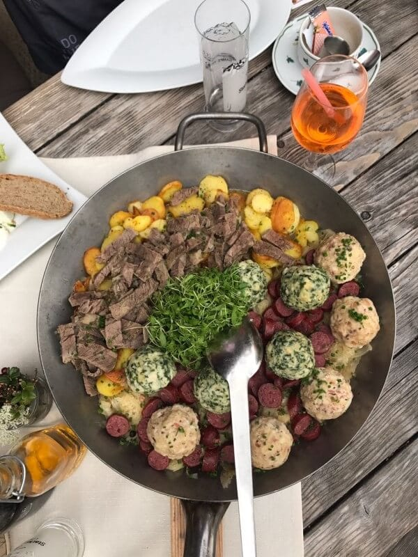 Austrian food mountain hut Solden Tirol (2)