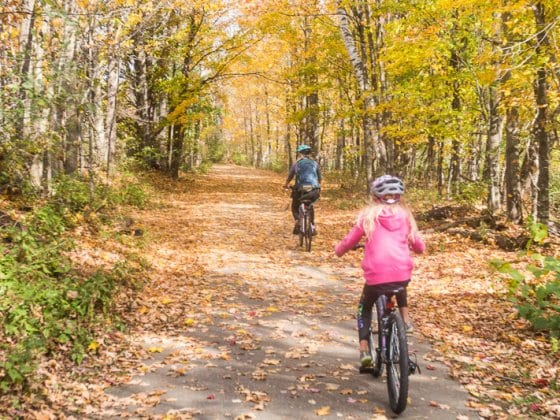 Biking the Stowe Recreation Path in Vermont New England (3)