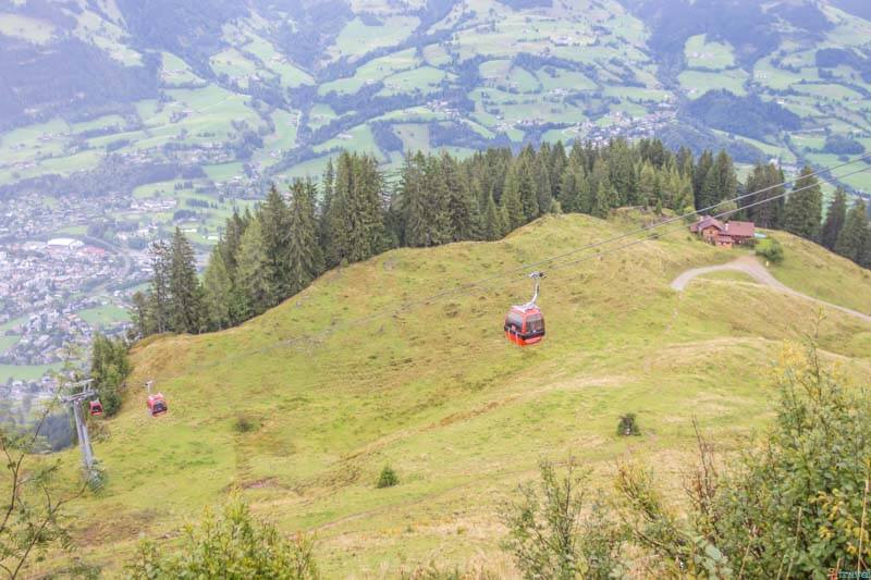 Cable Car Hahnenkamm Mountain Kitzbuhel Tirol Austria